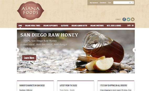 Asana Foods Website